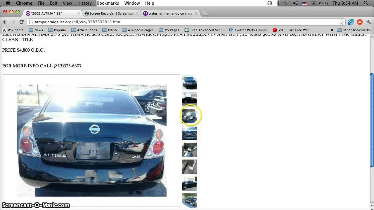 Craigslist Hillsborough County Florida Used Cars and ...