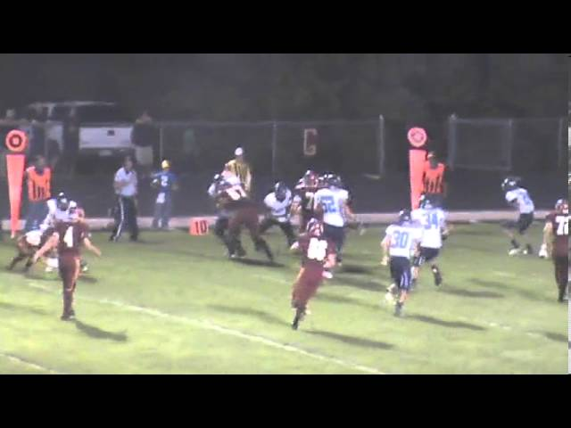 9-20-13 - Randy Baker's 15 yard run gets Brush on the board (Platte Valley 7, Brush 6)