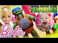 BARBIE DOLL and NINJA TURTLES TMNT Chelsea Hysterical Youtube Toy Video Funny Parody