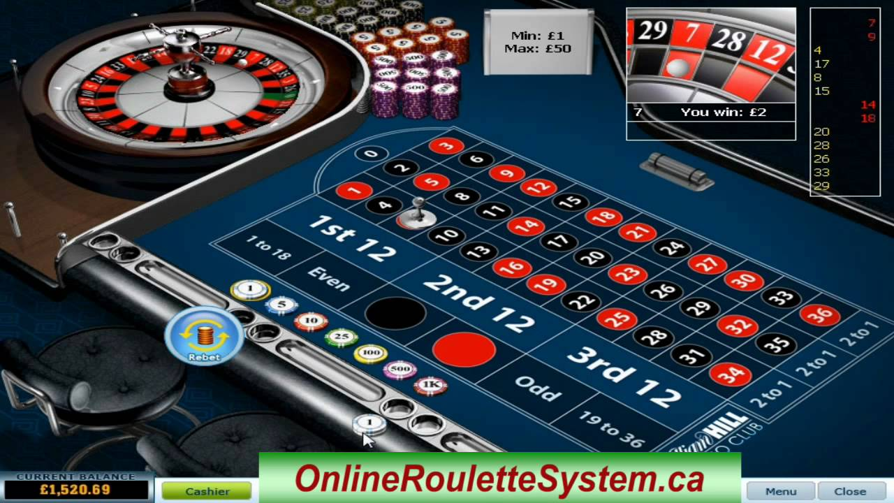 roulette video system