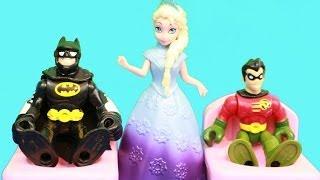 Frozen Elsa Gives Batcave A WOMAN'S TOUCH Makeover Batman