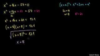 Dopolnjevanje do popolnega kvadrata – primer 1