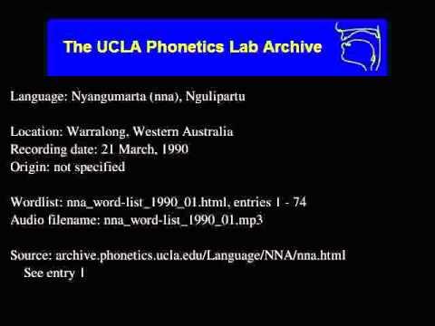 Nyangumarta audio: nna_word-list_1990_01