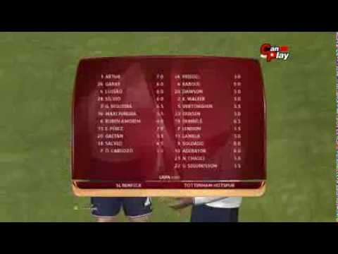Benfica - Tottenham  20.03.2014 [Pes 2014 Match Predictions] Full Time 2-1