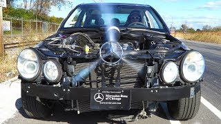 See Thru Car on Nitrous Races C43 AMG (Weight Reduction or Power ?)