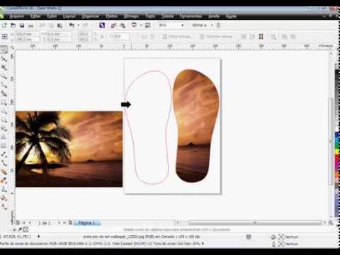 Como fazer chinelo Personalizado no Corel Draw