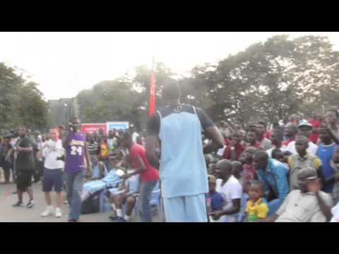 Serge Ibaka dunks at the Ibaka Games 2014 in Brazzaville