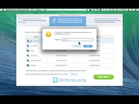 How to Recover Deleted or Lost iPhone Call History/Call Log from Encrypted iTunes Backup on Mac?