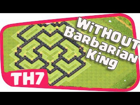 Clash of Clans - Town hall 7 (th7) Farming Base Without Barbarian King / CoC TH7 NEW DESIGN 2016