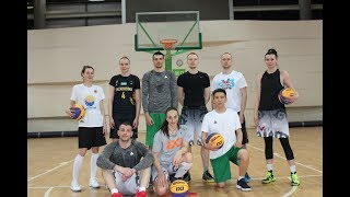 Training and photo session of the National team of Kazakhstan on basketball 3х3 before the Asia Cup 2018