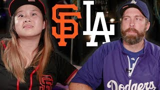 Dodgers Fans And Giants Fans Try Complimenting Each Other