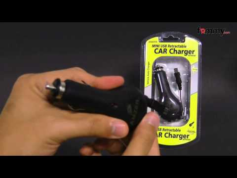 Amzer� Mini USB Retractable Car Charger