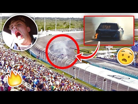 Our NASCAR Caught On Fire During The Race {EMERGENCY}
