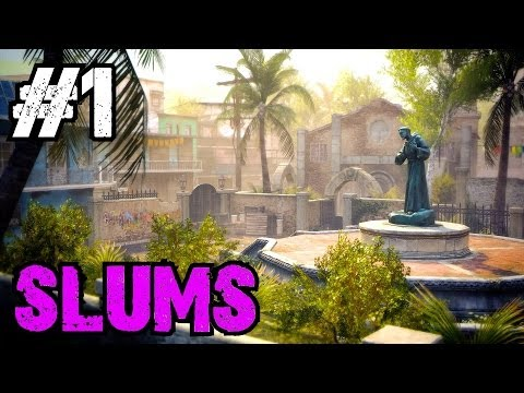 Custom Zombies - Slums: A Cool Re-Make of the Black Ops 2 Multiplayer Map Slums (Part 1)