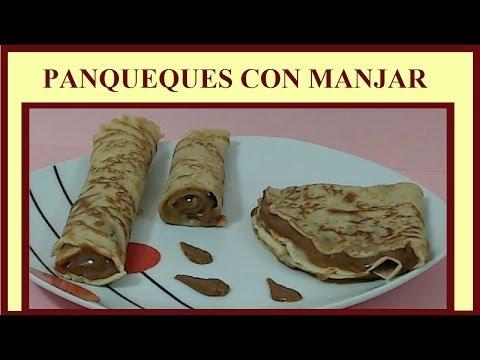 Panqueques con manjar (HD)