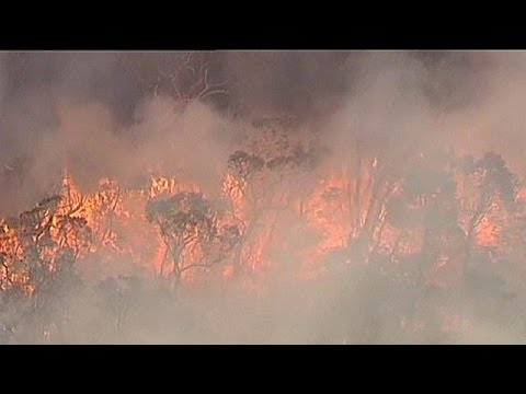 Weather forecast warning over Australia wildfires