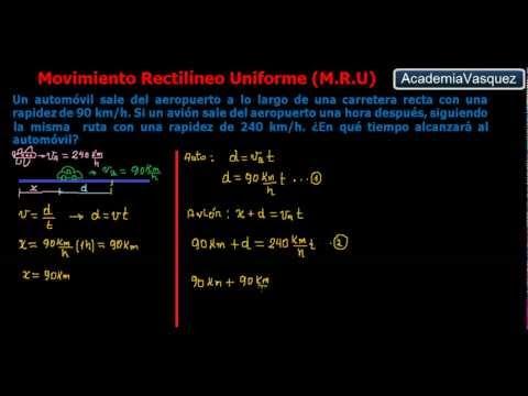 Movimiento Rectilíneo Uniforme, Ejercicio 1