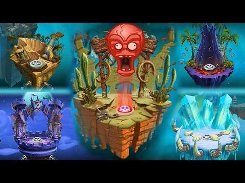 Plants vs Zombies 2 - New Zomboss Podiums (Unused)