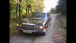 My Black  W116 Mercedes Benz 280 S-klasse.
