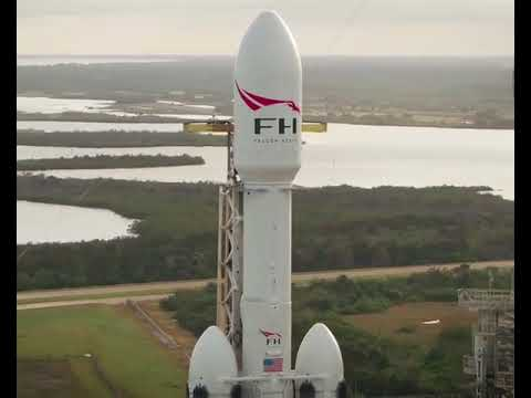 Falcon Heavy Drone Flyby (official)