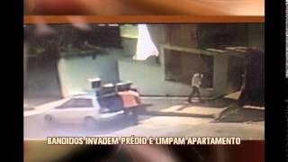 Bandidos invadem pr�dio e limpam apartamento em BH