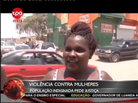 Jornal Nacional Angola - Duas Mulheres são espancadas Acusadas de Roubo
