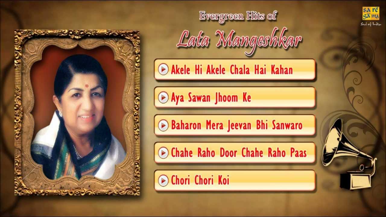 Akele Hee Akele Chala Hai Kahan Lyrics - Gopi | Lata ...