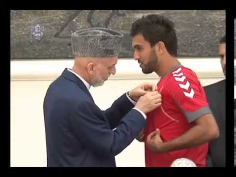President Karzai received today our Heroes, Afghan National Football Team, 14 Sep  2013 01
