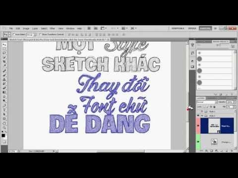 Font chữ viết tay Sketch bút chì độc đáo - Phiên bản tiếng Việt Psd