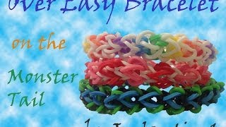 Over Easy Bracelet Made On The Monster Tail Rainbow Loom
