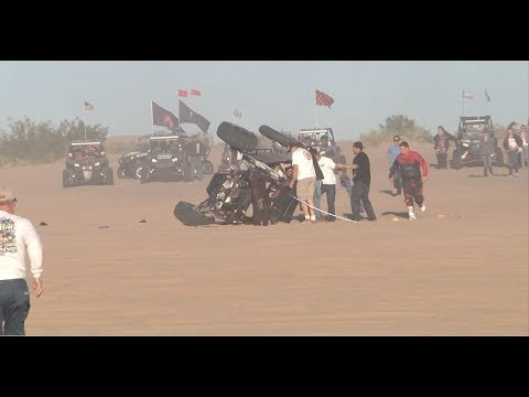 Glamis New Years 2014 2nd Sandcar Rollover
