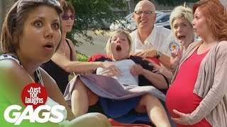 Pregnant Girls Pranks – Best of Just For Laughs Gags