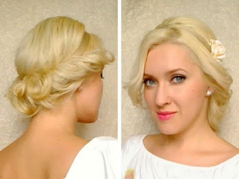 Curly updo for long hair tutorial with headband Hairstyle