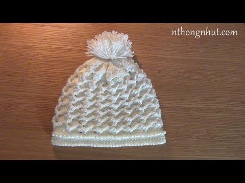 Cách móc nón bé trai