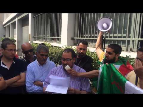 Manifestation devant le consulat algérien Lyon le 14 juin 2