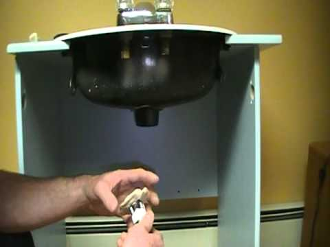 Old plumber shows how to install a bathroom sink basin