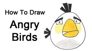 How To Draw Angry Birds (White Bird)
