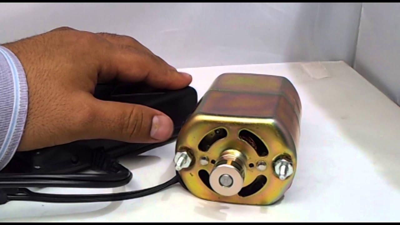 Motor universal con pedal de control de velocidad para for Maquinas de coser zaragoza