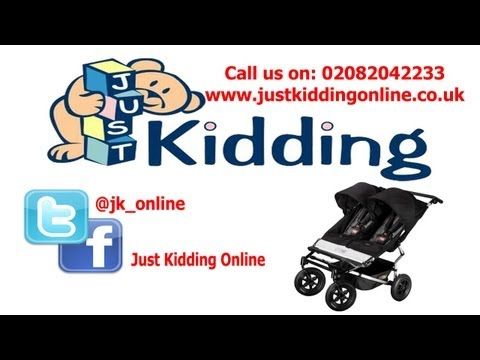 Mountain Buggy Pushchair Demonstration || justkiddingonline.co.uk
