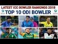 ICC Latest ODI Bowlers Ranking 2018 ICC Top 10 ODI Bowlers Latest ICC ODI Ranking 2018
