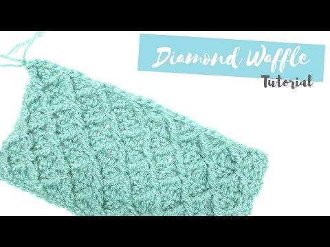 CROCHET: How to crochet the Diamond waffle stitch | Bella Coco