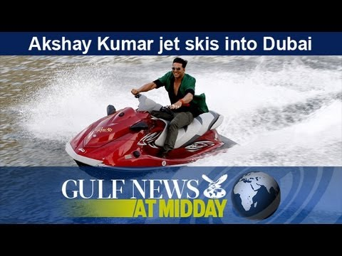 Akshay Kumar jet skis into Dubai - GN Midday Wednesday Sept 2 2013
