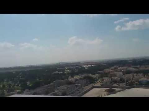 Émirats arabes unis ABU DHABI vue d'un toit Janvier 2012