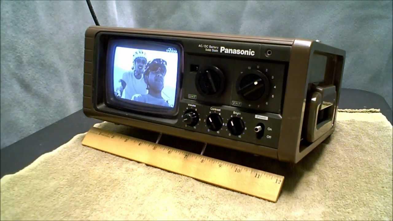 Panasonic tr 515 portable tv diy db4 antenna youtube for Diy tr