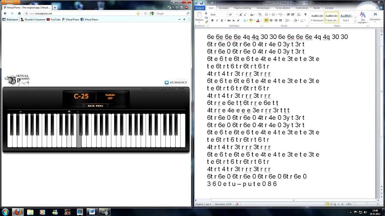 Virtual Piano - Requiem For A Dream, Lux Aeterna - YouTube