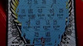 "Scratching Off A New Jersey ""Win For Life"" Instant Lottery"