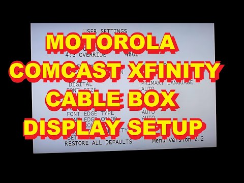 Comcast Converter Box Setup