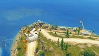 Flying Bikes Across The Lake (GTA 5 Stunting For Dummies