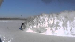 Chevrolet Avalanche on a frozen lake