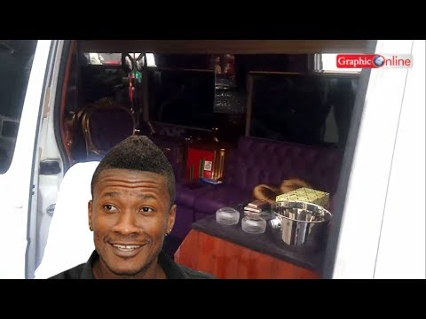 VIDEO: Take a peek inside Asamoah Gyan's luxury Mercedes-Benz bus